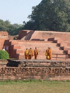 Nalanda_University_and_Buddhist Monks