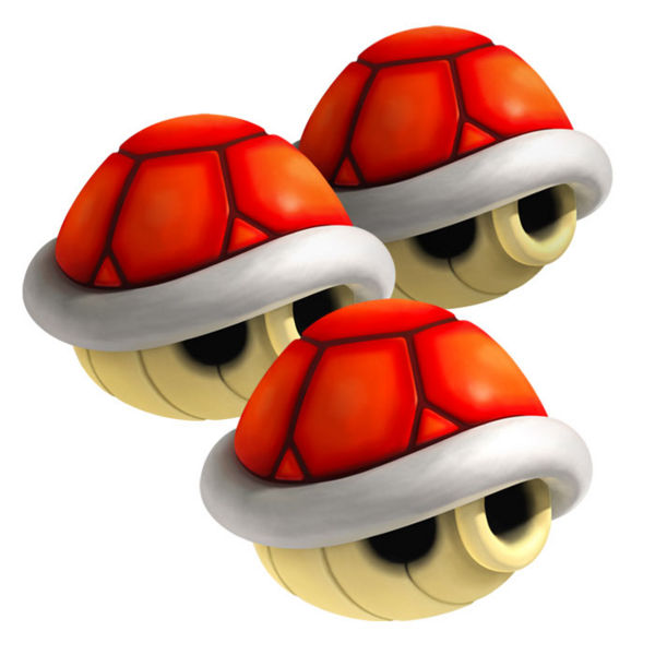 Top Ten List - Most Useful Mario Kart Items - 3 red shells