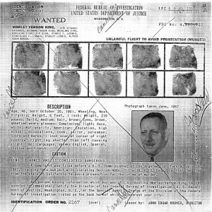List of Top Ten Most Wanted FBI Fugitives 1950 - Morley Vernon King
