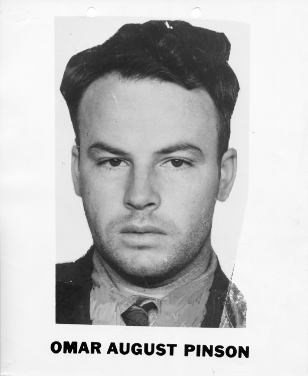 List of Top Ten Most Wanted FBI Fugitives 1950 - Omar August Pinson