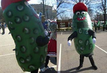 List o' Top Ten Very Odd College Mascots - fighting pickle