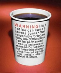 hot coffee-warning
