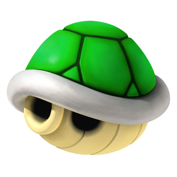 Top Ten List - Most Useful Mario Kart Items - green shell