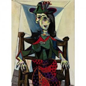 Top Ten List of Most Expensive Paintings - Dora Maar with Cat by Pablo Picasso
