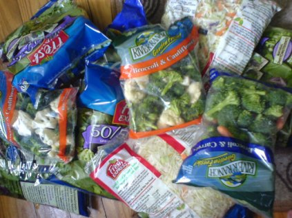 List of Top Ten Myths About Vegetables - bagged veggies