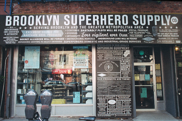 Superhero store - get your super gear here