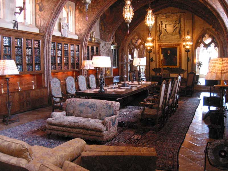 Hearst-Castle-Library