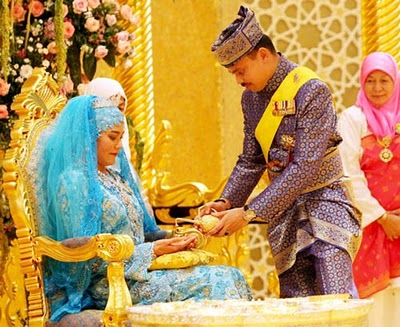 Princess Hajah Majeedah Nuurul Bulqiah and Khairul Khalil royal wedding