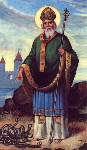 top ten list Irish legends - St. Patrick