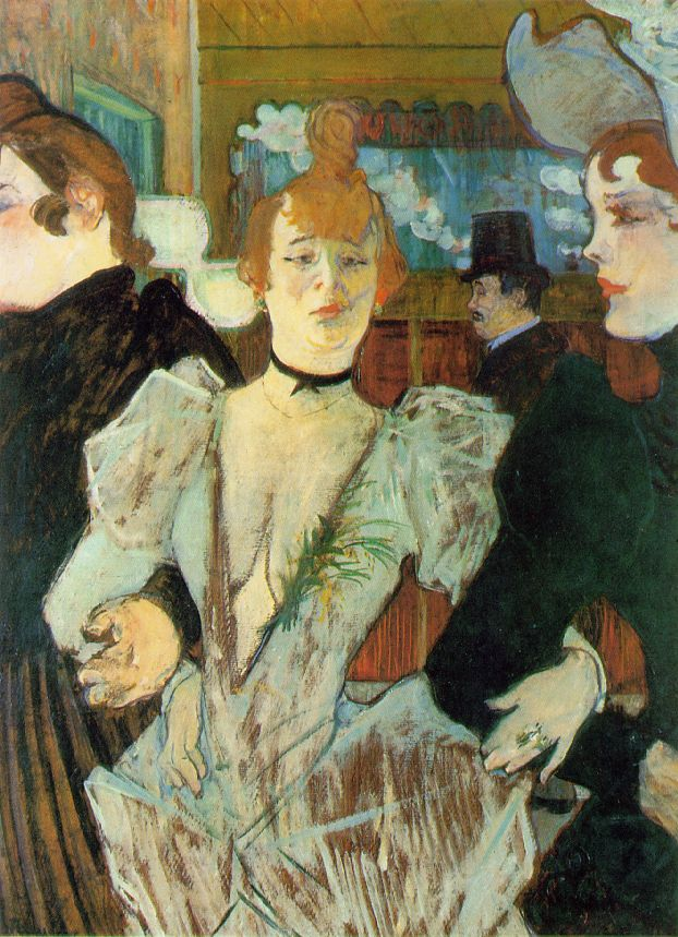 La Goulue arrives at the Moulin Rouge- Toulouse Lautrec