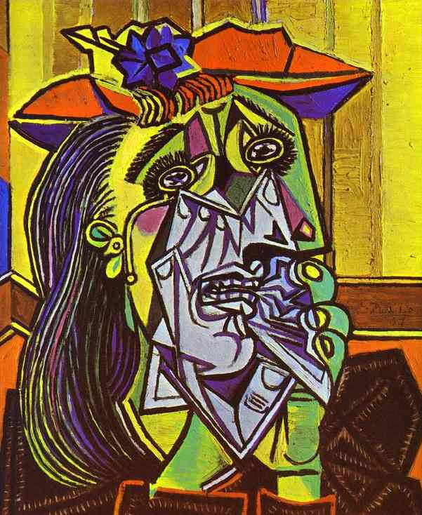 Weeping Woman-Picasso-1937
