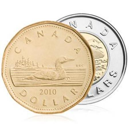 List 0' Top Souvenirs From Your Canadian Holiday - loonie and toonie canadian money currency coins