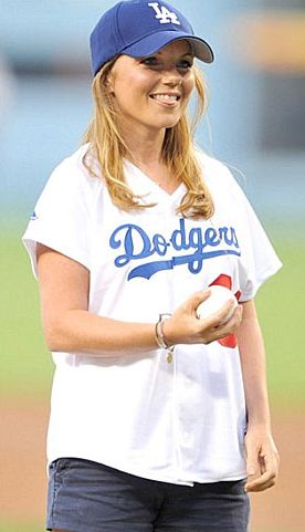 Sexiest Celebrity First Pitches In MLB Baseball History-Geri Haliwell