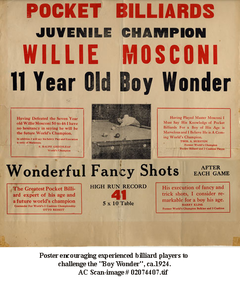 top ten list-Ten Amazing Child Prodigies-Willie Mosconi
